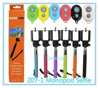 Wholesale Free Fedex Z07 Extendable Handheld Monopod Selfie Stick Cell Phone Clip holder For iPhone Samsung Note LG HTC Sony Camera Colorful