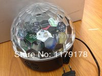 air disco - Hot Sale W Led magic ball light disco party decorations LED crystal ball with MP3 Remote By China Post AIr