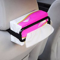 Wholesale 2015 New Design Creative Car Sun Visor Seat Back Elastic Tissue Napkin Paper Box Holder
