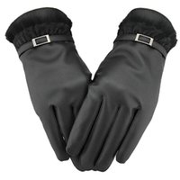 Wholesale Winter Women PU Leather Gloves Easy Click Touch Screen SmartPhone Magic Gloves