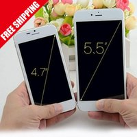 Wholesale New Arrival inch Goophone i6 i6 Dual Core MTK6572 GHz GB GB Android Jelly Bean GPS WiFi G WCDMA Smart Phone DHL free