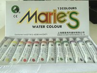 Wholesale 12colors set Marie s watercolor paint set tinta guache conjuntos de anos acompanhe seu pedido ml Tube pc