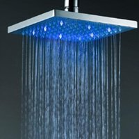 Wholesale 8 inches led shower head brass square rain shower head