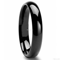 Wholesale Classic Tungsten Carbide Black Polished Wedding Band Men Womens Engagement Bridal Ring Statement Charms Infinity Jewelry Christmas Gifts