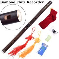 Wholesale Chinese Bamboo Flute Recorder Vertical Mini Woodwind Musical Instrument Traditional Handmade Bambu Flauta G F key hole Beginner
