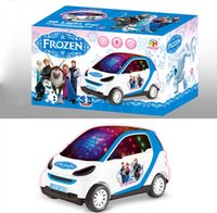 Wholesale Frozen Electronic Musical Instrument Freezing Car With D Light Children s Toys Kids Christmas Gifts DHL Free