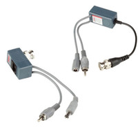 audio transceiver - BNC Coax RJ45 Balun with Audio Video Power over Transceiver Cables