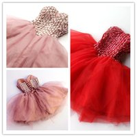 Cheap .2015 Lovely Short Homecoming Dresses Sweetheart Strapless Crystal Tulle Mini Length Skin Pink Red Corset Prom Dress Backless Party Gowns