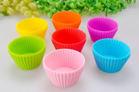 Set Silicone FDA Silicone Cake Mold Muffin Cupcake Baking Dishes Pan, Form to Bake Cake Dessert Decorating Tools Bakeware Kitchen Dining Bar
