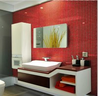Wholesale Mosaic tiles China pool kitchen wall brick red crystal glass Mosaic and Mosaic glass bathroom tile wall brick