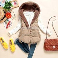 Wholesale 2014 New Fashion autumn winter vest women Hooded vest Slim Plus Velvet Vest Thermal Down Cotton thick With A Hood Vest