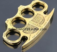 Wholesale QTY HELL DETECTIVE CONSTANTINE BRASS KNUCKLE DUSTERS GOLD Security self defense fashion Hot Sell