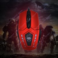 Wholesale 6 Buttons dpi Red Super Optical Gaming Mouse USB Wired Professional Game Mice For PC Computer Desktop SV000510