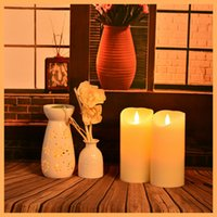 Wholesale bar candle wax candel flameless moving wick led candle electronic candle led candle light Battery operated romantic Wedding remote control l