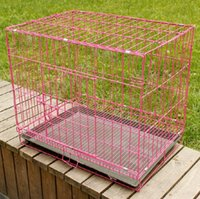 cage wire - Mak eating coarse wire cage folding pet dog cage cage cage cage Tactic dogs and cats