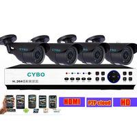 Wholesale Home CCTV security camera DVR system P h IP cloud DVR TVL Outdoor Video Surveillance Camera Systems DIY Kits set
