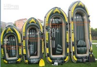 used boats - china made brand intex Inflatable boat raft motor mountable for four men used in water
