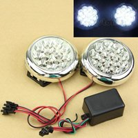 Cheap Free Shipping 2x 15 12V Round Daytime Running LED Driving Lights DRL Front Fog Tail Work Lamp order<$18no track