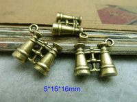 antique binoculars - 60 Binocular Charms Antique Bronze Tone Telescope Charms Lovely D Binoculars Pendants mm For Jewelry