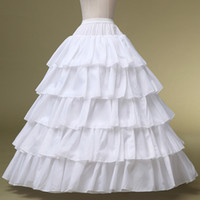 Wholesale Pretty New Wedding Girls Satin Hoops Layers Long A line Bridal Petticoat Puffy Dress Accessories High Quality Underskirt PT003