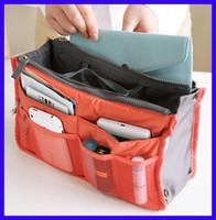 Wholesale Women storage cosmetic bag Makeup Bag Purse MP3 Mp4 Phone Organizer lady fashion bag in bag Sundry Bags Zipper Tidy Bag