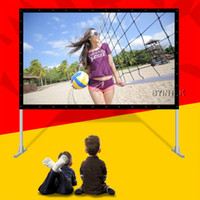 Wholesale Quick Fast Folding Fold Rear Projection Film100inch PVC Surface Screen with Aluminium Casing