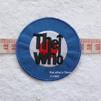 badge embroidery uk - UK The who band iron on patches embroidery fabric Music Band Patch jacket jeans applique Rock Punk Badge