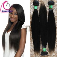 Cheap Peruivan Malaysian Indian Brazilian Hair Bundles Unprocessed Straight Remy Human Hair Weave 1pc Dyeable Virgin Hair Extensions Double Weft