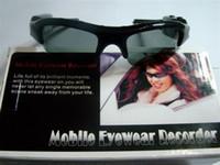 mobile eyewear recorder - 10 Sunglasses Video Camera DVR Hidden Recorder glasses DV Mobile Eyewear webcam Card reader AC Charger mini camera x720