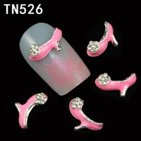 art high heels - New D Nail Art Decorations Pink High heeled shoes Clear Rhinestones For Nails DIY Glitter Nail Tools