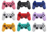 Wholesale PS3 Wireless Bluetooth Game Controller for Playstation3 PS3 Console Video Games Joystick Gamepad SixAxis Vibration DHL