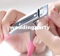 Wholesale 3 Way Acrylic UV Gel False Nail Tip Clipper Cutter Edge Cutter Tips Pink