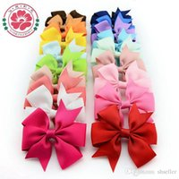 hair clip for kids - 564 High Quality inch Grosgrain Ribbon Boutique Hair Bows With Clip Hairpins For Kids Girl Hair Accessories A5