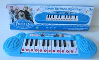 Wholesale Musical instruments toy for kids Frozen girl Cartoon electronic organ toy keyboard electronic baby piano with music song TF3b
