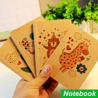 Wholesale 4 Kraft paper cover notebook Portable diary book Vintage zakka books caderno stationery material School supplies