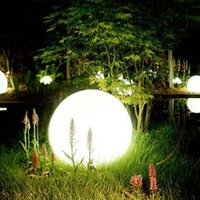 Wholesale led orb ball lighting Remote Controlled color changing rechargeable IP68 waterproof glowing decorative garden led sphere for swimming pool
