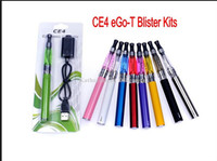 Set Series e cig - eGo CE4 Blister Kits eGo T Battery mah mah mah Electronic Cigarette E Cigarette E Cig Kits CE4 Clearomizer Various Colors Instock
