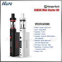 Cheap Single kanger subox mini starter kit Best Black Silicon subox mini kit