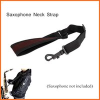 Wholesale Adjustable Saxophone Sax Neck Strap Cotton Padded Design with Hook Clasp Saxophone Accessories Top Quality