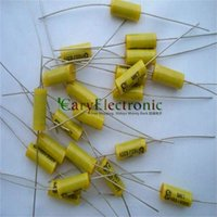 audio amp tube - and retail long leads yellow Axial Polyester Film Capacitors electronics uF V fr tube amp audio