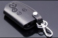 Wholesale High Grade Car key Bag Business Style True Leather key Bag Black Smart Button