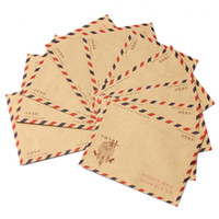 Wholesale 10Pcs Vintage Romance Style Mini Envelope Air Mail Postcard Letter Greeting Paper Storage Stationery C eative Gift