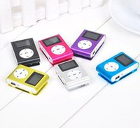 Wholesale Colorful MINI Clip MP3 Player with Inch LCD Screen Music player Support Micro SD TF Slot Earphone USB Cable with Gift box