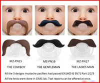 Wholesale 2015 Hot Sale Baby Funny Beard High Quality Europe Fashion Pacifiers Infant Boys Girls Cartoon Cute Mustache Soother Kids Feeding
