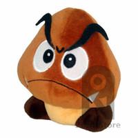 al por mayor importación muñeca-Zorn tienda-Super Mario muñeca de la felpa de Yoshi vs setas Goomba relleno suave juguete de felpa venenosas Castaño Aberdeen 5 pulgadas de importación japonesa