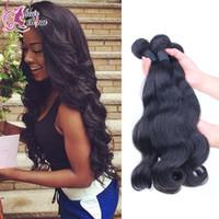 Brazilian Hair 100 natural human hair - Amazing Brazilian Virgin Hair Unprocessed Peruvian Malaysian A Human Hair Weave Bundles Natural Body Wave Hair Extensions