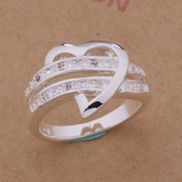 Wholesale Heart sterling silver woman ring plated factory price AR0163