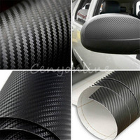 Wholesale Super Black High Quality Carbon Fiber Film Wrap Roll Adhesive DIY D Car Sticker Sheet Wrap x127cm Home Decoration
