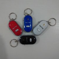 Wholesale Keychain Key Finder Whistle LED Flashlight Electronic Anti lost Device Alarm Locator Sound Control Mobile Phone