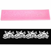Wholesale Silicone Cake Decorating Mat Fondant Kitchen Silicone Lace Mold Flower Pattern Cake Decorating Styling Tools
